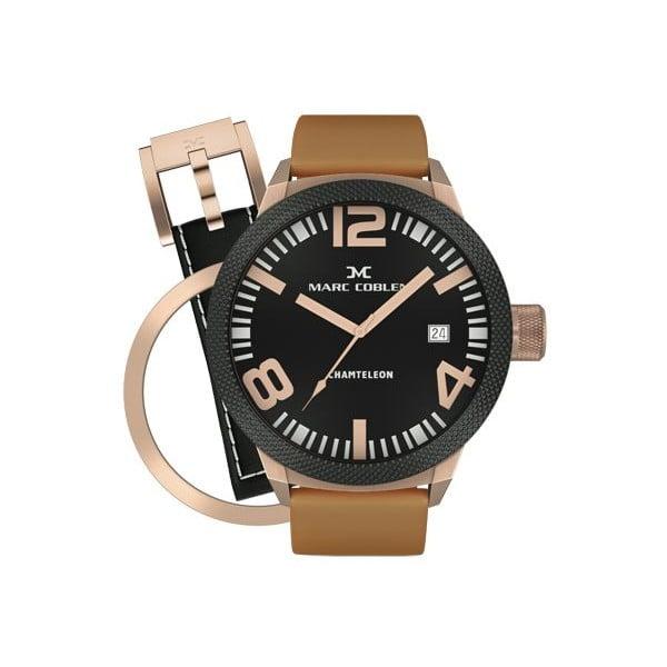 Pánske hodinky Marc Coblen s remienkom a krúžkom na ciferník naviac P38