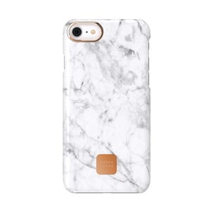 Bielo-sivý ochranný kryt na telefón pre iPhone 7 a 8 Happy Plugs Slim