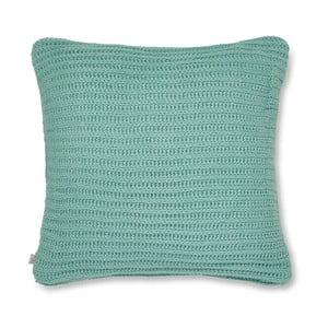 Tyrkysová pletená obliečka na vankúš Catherine Lansfield Knit, 45×45 cm