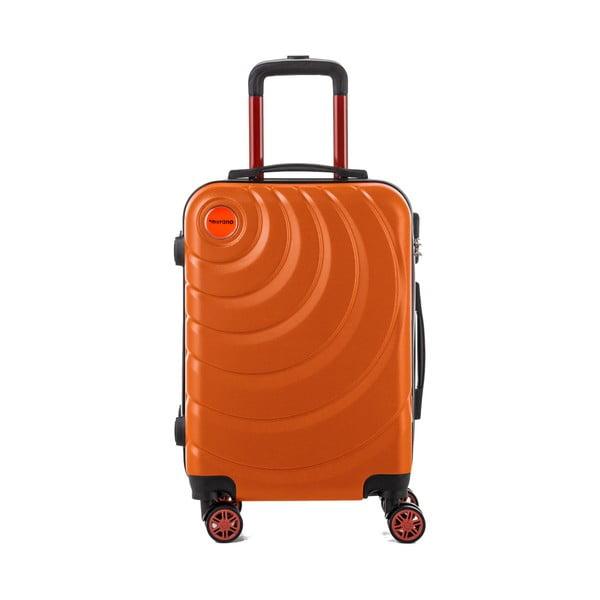 Sada 3 oranžových cestovných kufrov Murano Manhattan