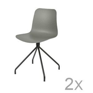 Sada 2 sivých stoličiek DeEekhoorn Sis