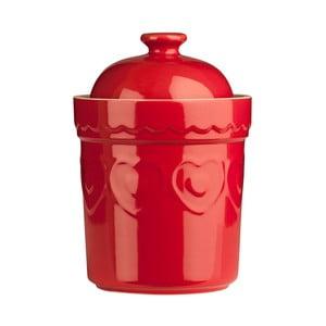 Červená dóza Premier Housewares Sweet Heart, 0,8 l