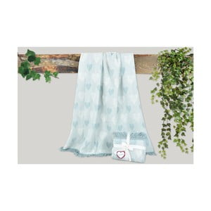 Mätovozelená deka s prímesou bavlny Dolce Bonita Kalp, 155 × 125 cm