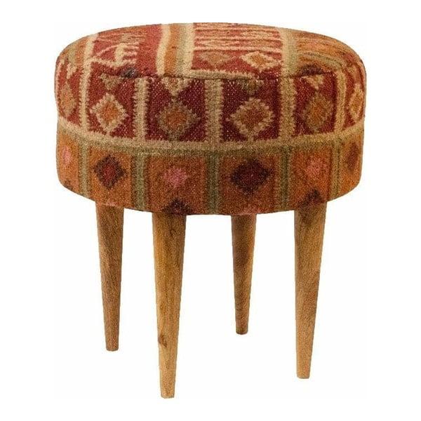Červená vzorovaná stolička z mangového dreva Støraa Marion