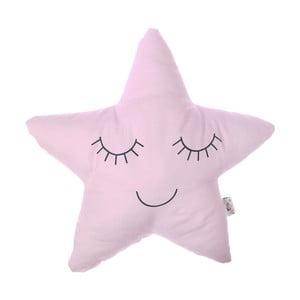 Svetloružový detský vankúšik s prímesou bavlny Apolena Pillow Toy Star, 35 x 35 cm