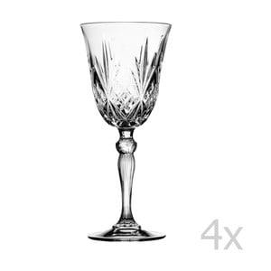 Set 4 pohárov na víno Melodia, 210 ml