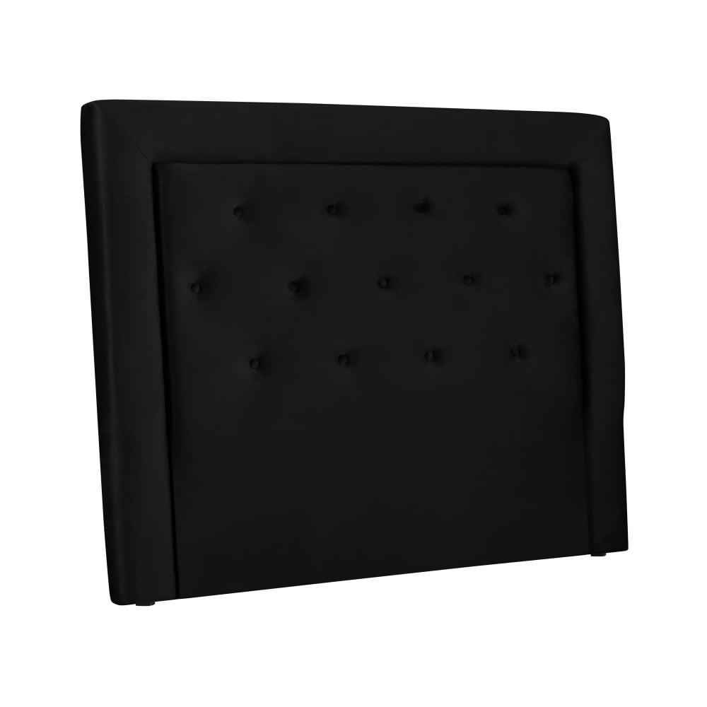 Čierne čelo postele Cosmopolitan Cloud, šírka 160 cm