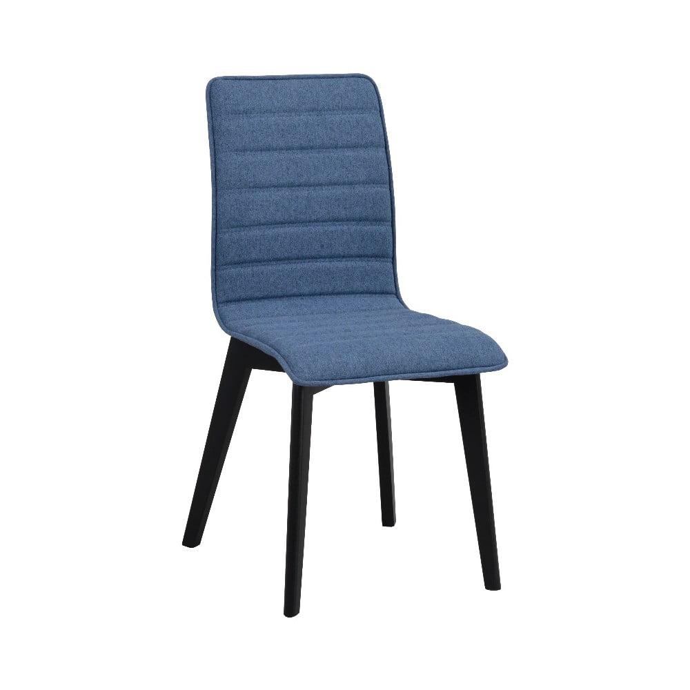 Modrá jedálenská stolička s čiernymi nohami Folke Grace