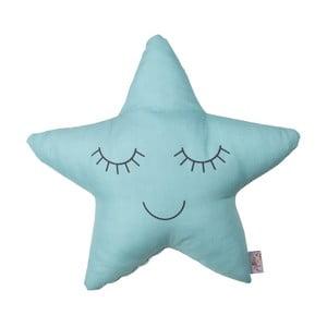 Tyrkysovomodrý detský vankúšik s prímesou bavlny Apolena Pillow Toy Star, 35 x 35 cm