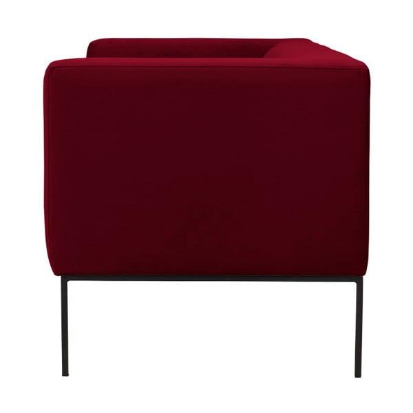 Červená zamatová dvojmiestna pohovka Windsor & Co Sofas Neptune