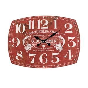 Nástenné hodiny InArt Depot, červené