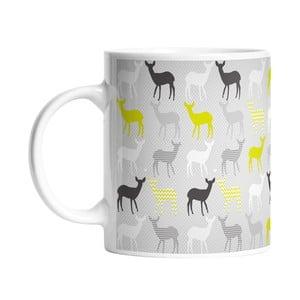 Keramický hrnček Lime Deers, 330 ml