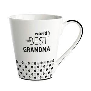 Porcelánový hrnček KJ Collection World's best grandma, 300ml