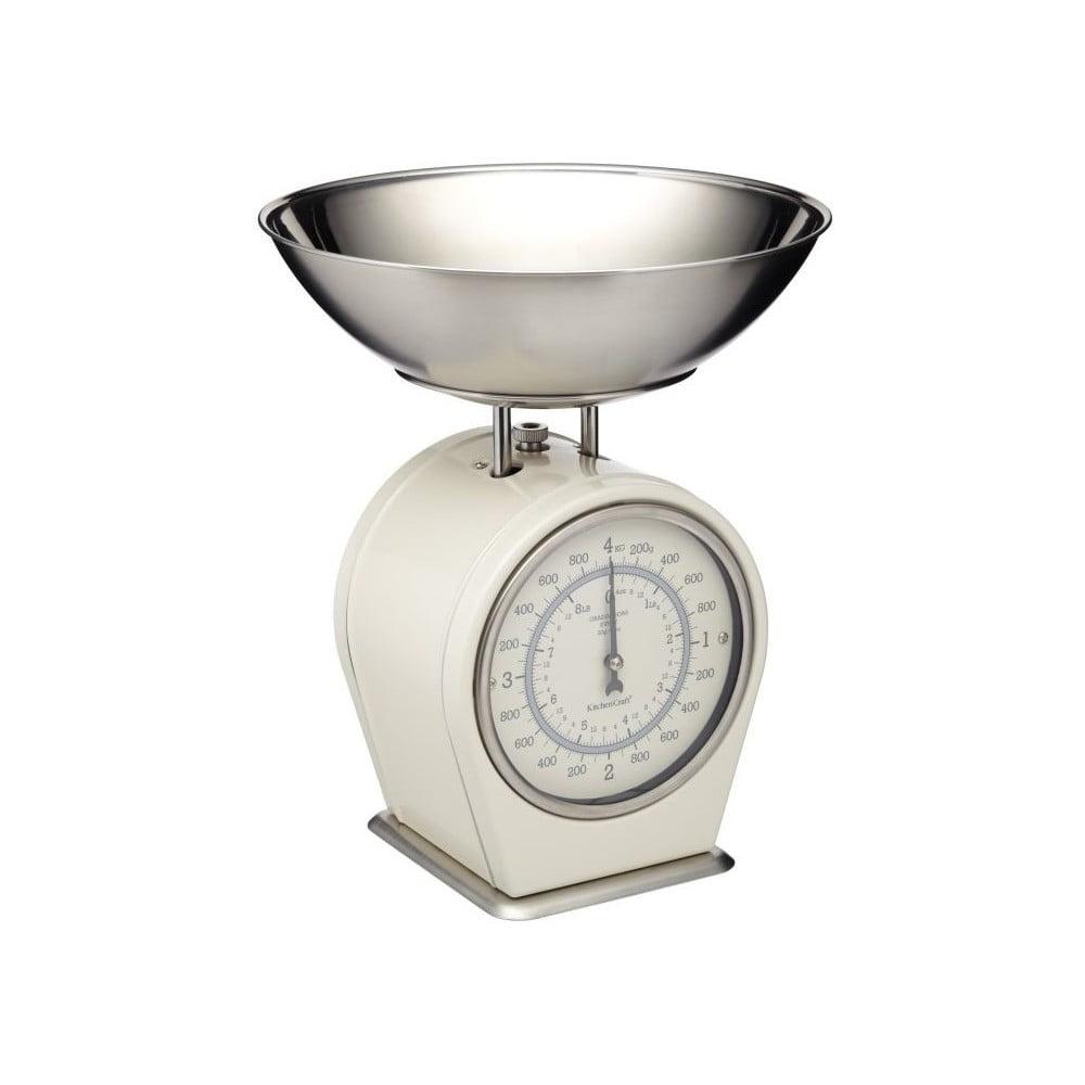 Krémovobiela kuchynská váha Kitchen Craft Living Nostalgia, 4 kg