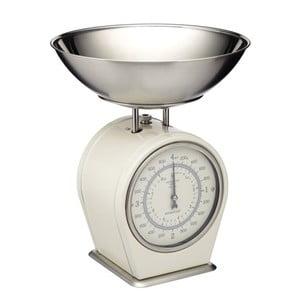 Krémová kuchynská váha Kitchen Craft Living Nostalgia, 4 kg