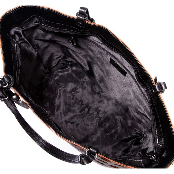 Kožená kabelka Signature Chocolate