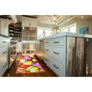 Vysokoodolný kuchynský koberec Macarons, 60x110 cm