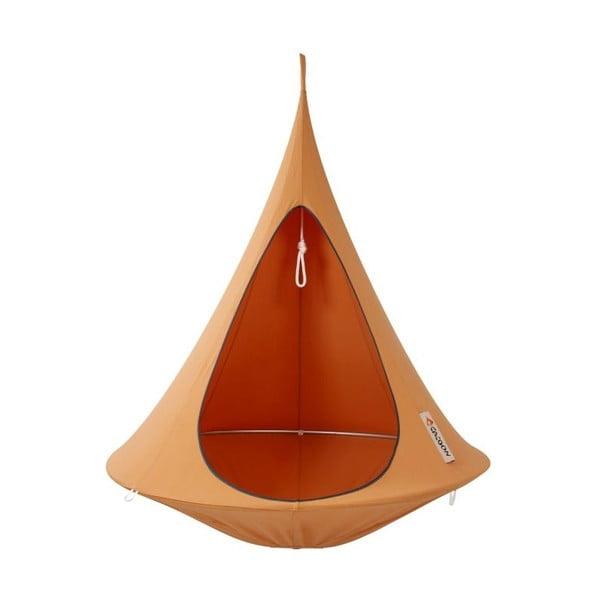 Oranžové závesné kreslo pre jedného Cacoon Single