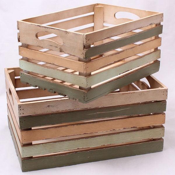Sada dvoch drevených prepraviek Dakls Rustic