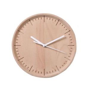 Biele hodiny z bukového dreva Qualy&CO Meter