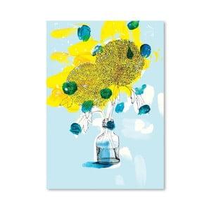 Plagát  Yellow Flowers, 30x42 cm