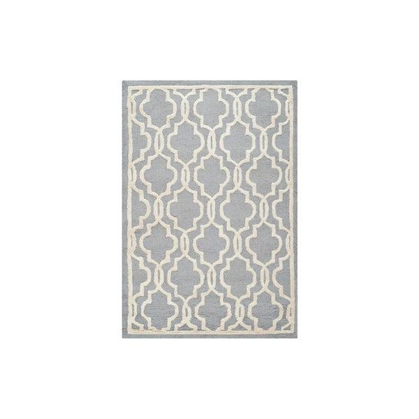 Vlnený koberec Elle 121x182 cm, sivý