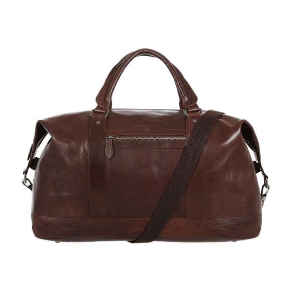 Cestovní kožená taška Monty Brown