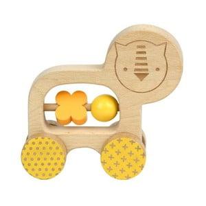 Jazdiacia hračka pre rozvoj jemnej motoriky Petit collage Lion
