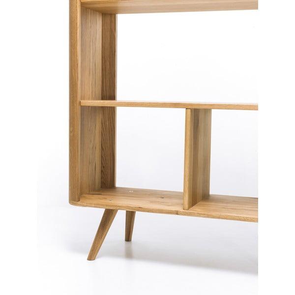 Knižnica z dubového dreva Gazzda Ena, 90 x 35 x 200 cm