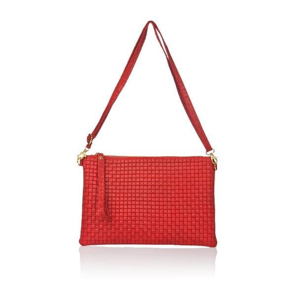 Kožená kabelka Markese 9609 Red