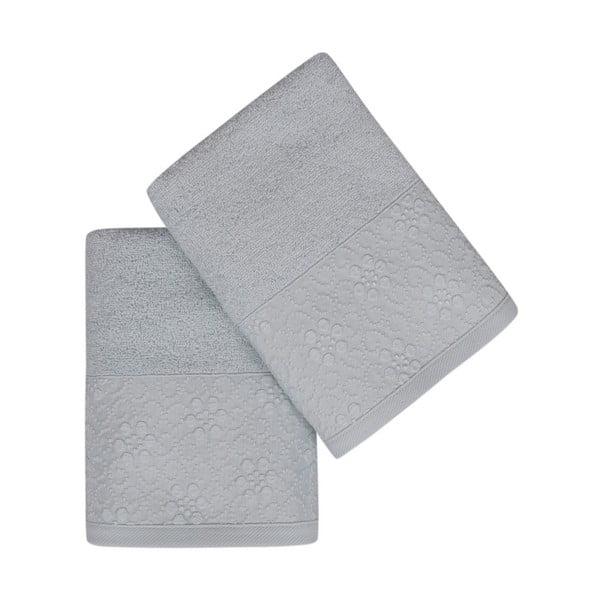 Sada 2 mätovozelených uterákov z čistej bavlny Grande, 50 x 90 cm