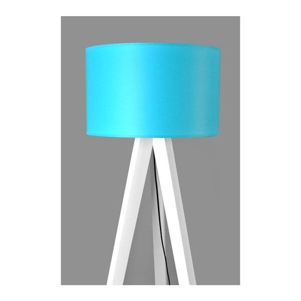 Stojacia lampa Tripod Blue/White