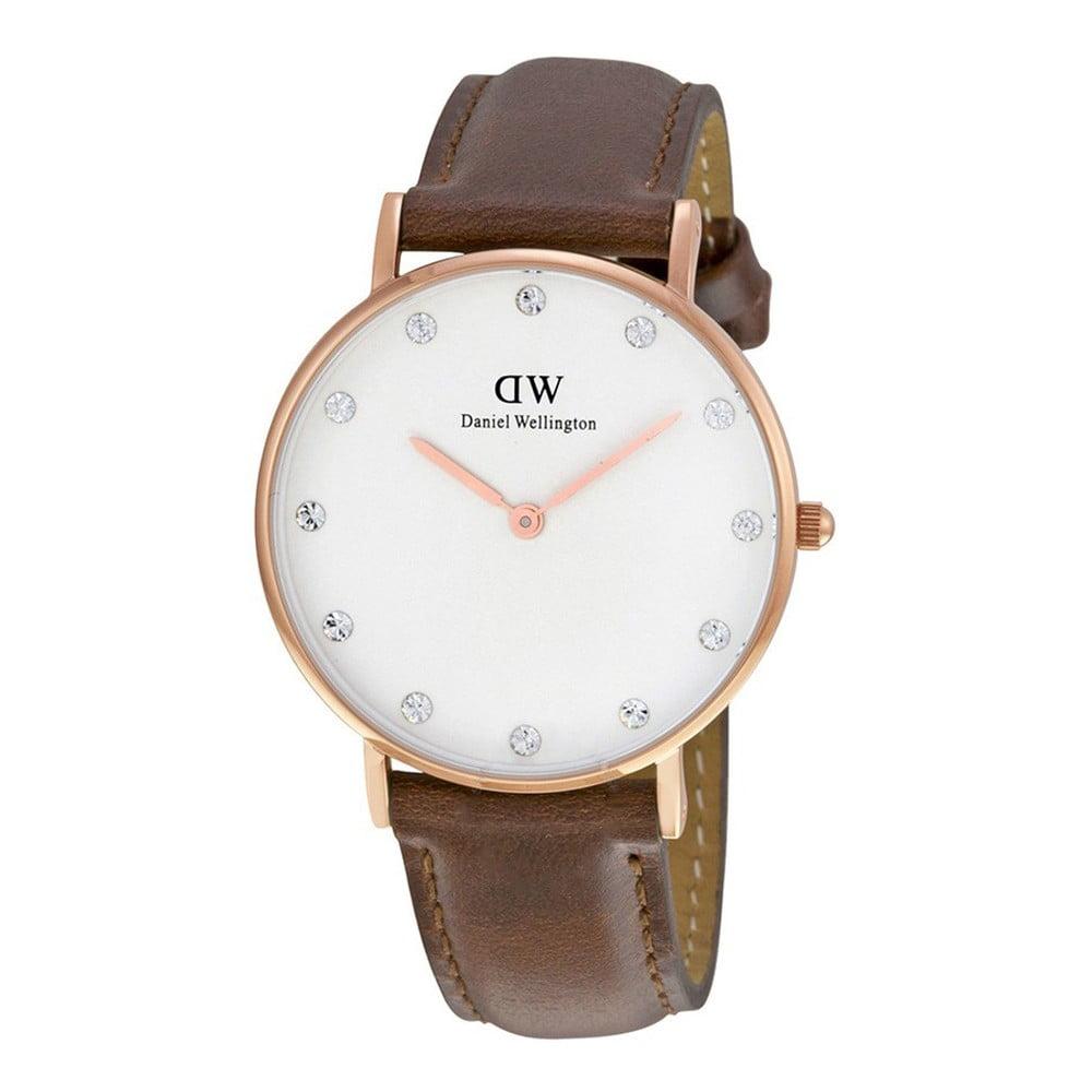 Dámske hodinky s koženým remienkom a ciferníkom ružovozlatej farby Daniel Wellington St Mawes, ⌀ 34 mm