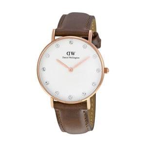 Dámske hodinky s hnedým remienkom Daniel Wellington St Mawes Rose, ⌀ 34 mm
