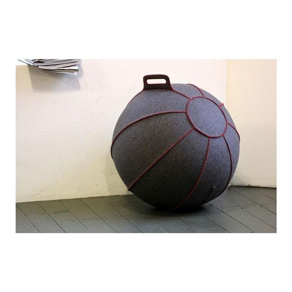 Sivá plstená lopta na sedenie VLUV, 75cm