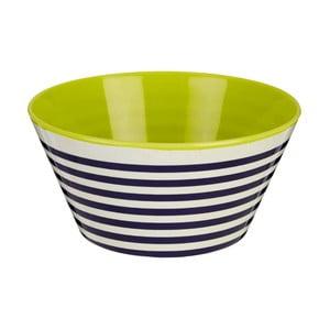 Modrá pruhovaná miska Premier Housewares Mimo, ⌀ 15 cm