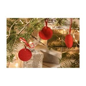 Sada 4 červených voňavých vianočných ozdôb e-my