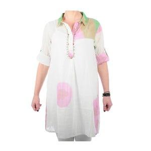 Plážové šaty Kurta zeleno/ružové, veľ. M