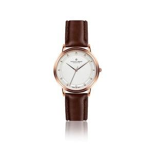 Unisex hodinky s tmavě hnedým remienkom z pravej kože Frederic Graff Thelma