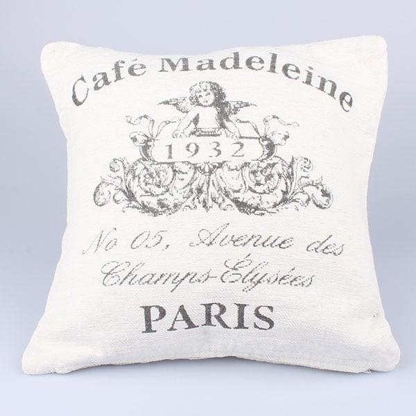 Obliečka na vankúš Café Paris, biely