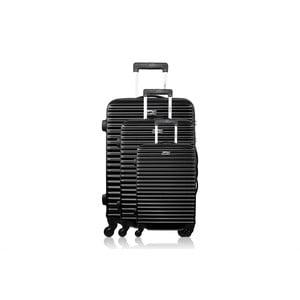Sada 3 kufrov Brand Developpement Linn, čierna