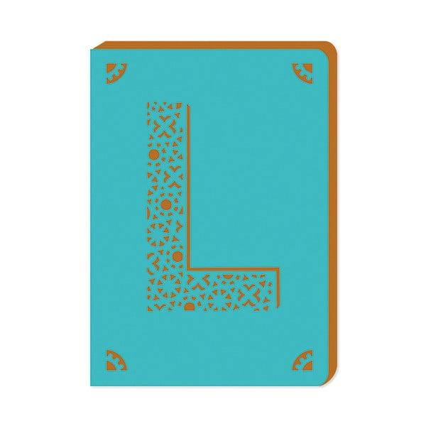Linajkový zápisník A6 s monogramom Portico Designs L, 160stránok