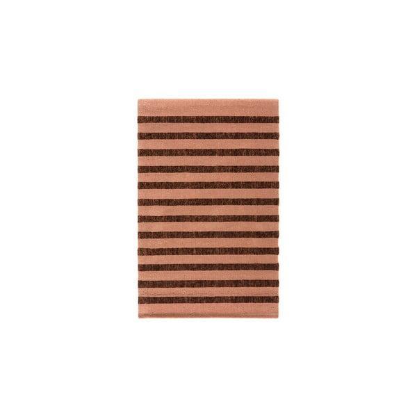 Vlnený koberec Tattoo no. 118, 60x120 cm, hnedý