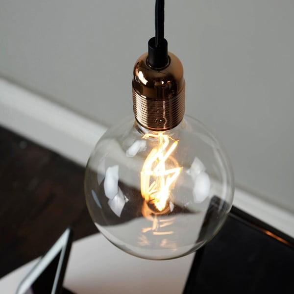 Čierny závesný kábel s medenou objímkou Bulb Attack Uno