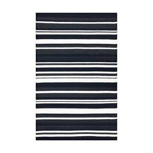 Čierno-biely obojstranný koberec vhodný aj do exteriéru Green Decore Broadway, 150×90 cm