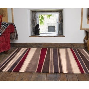 Koberec Flair Rugs Streak Brown/Red, 120 x 170 cm