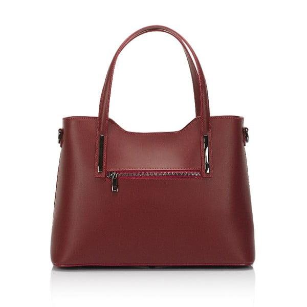 Červená kožená kabelka Markese Terra