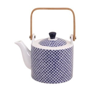 Modro-biela čajová kanvička Tokyo Design Studio Nippon Raindrop, 600 ml