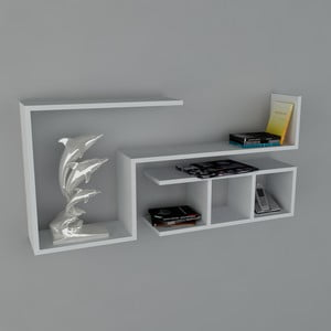Polica Finito Book White, 22x117x55,5 cm