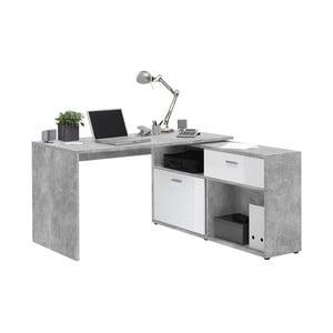 Sivý pracovný stôl 13Casa Dexter